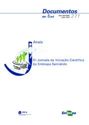 I ornada de Iniciação Científica da Embrapa Semiárido